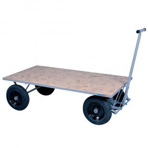 Carro Plataforma de Madeira 800kg com Rodas Pneumáticas • FG-54