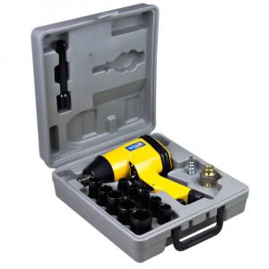 Chave Parafusadeira de Impacto Pneumática Semiprofissional 1/2 Pol. c/ 17 Acessórios • FG3900