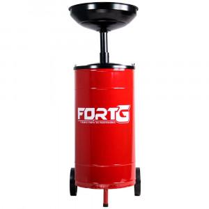 Coletor de Óleo com Carrinho Vermelho 50 Litros • FORTG-854728