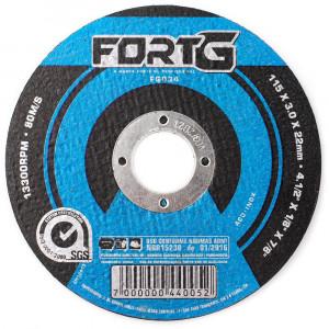 Disco de Corte 115 x 3 x 22,23mm para Aço e Metais Ferrosos • FG034