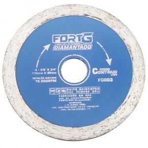 Disco de Corte Diamantado Contínuo Liso de 4-3/8 Pol. • FG003