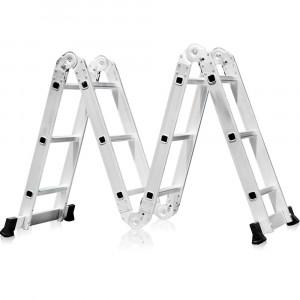 Escada Multifuncional 4x3 em Alumínio com 12 Degraus • FG8430