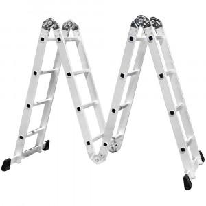 Escada Multifuncional 4x4 com 16 Degraus em Alumínio • FG8410