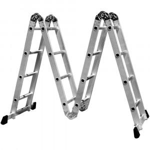 Escada Multifuncional 4x4 em Aço e Alumínio 16 Degraus • FG8415