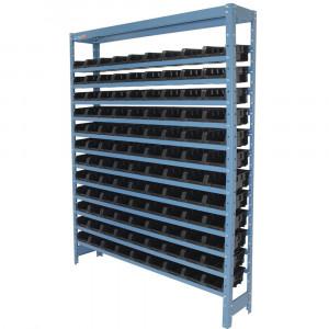 Estante Compacta Com 108 Caixas Nº 3 Cor Preta • FGE108/3P