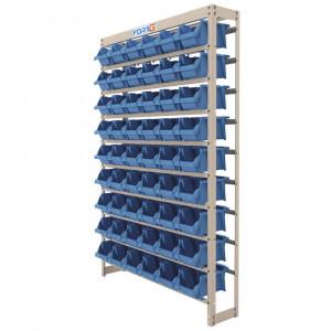 Estante Gaveteiro Organizador 54 Gavetas Número 5 Cor Azul • 102857