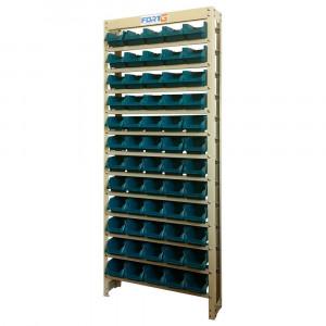 Estante Gaveteiro Organizador com 60 Gavetas Nº 3 Cor Azul • 70006