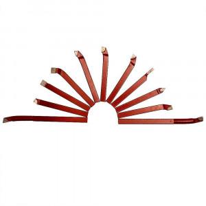 Jogo 11 Peças Ferramentas de Corte em Metal Duro 8 x 8mm para Torno • FG028