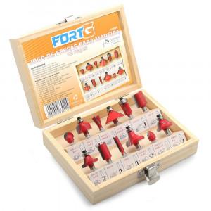 Jogo de Fresas Vermelhas com 12 Peças para Madeira • FG9020