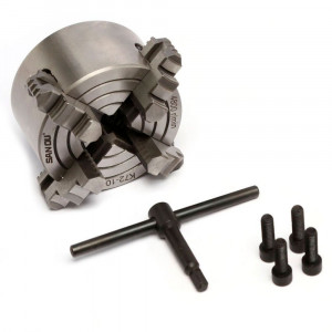 Placa/Mandril 4 Castanhas 100mm para Mini Torno Mecânico • FG013