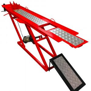 Rampa Pneumática Vermelha para Moto 250Kg 1 Pistão • 8809