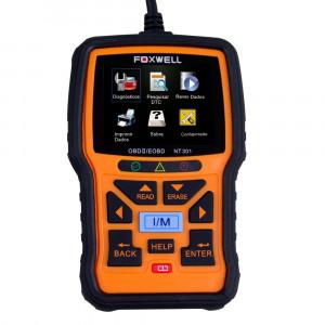 Scanner Leitor de Códigos de Falhas Linha Diesel Leve e Carros Foxwell - OBDII/CAN • NT301