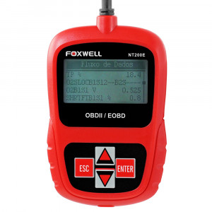 Scanner Leitor de Códigos de Falhas Foxwell - OBDII/EOBD e CAN • NT200E